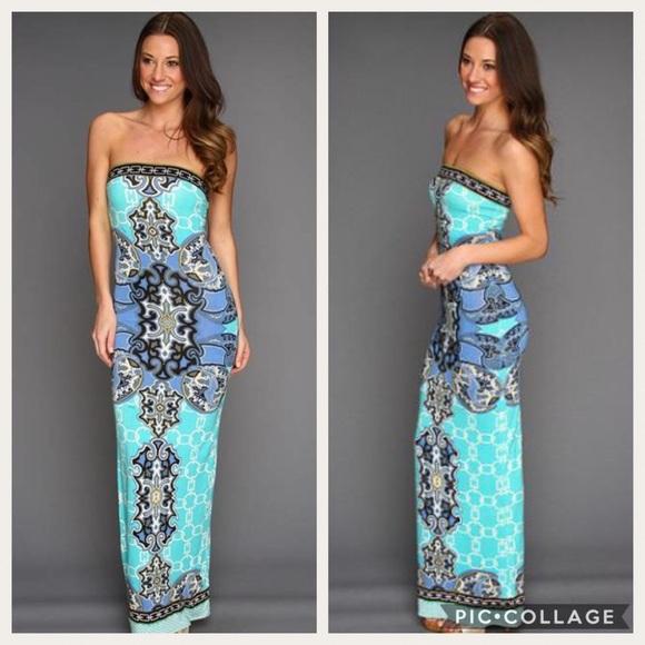 1bf12394cad Hale Bob Dresses   Skirts - Hale Bob Cruisin Tube Blue Print Maxi Dress